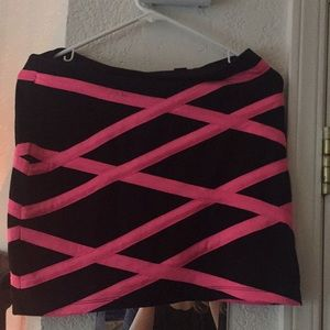 Dresses & Skirts - Neon pink and black skirt